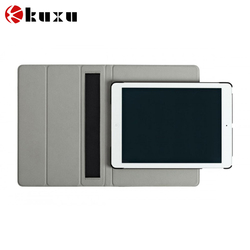 Folio stand leather cover case for iPad 6 ,smart back cover case for iPad air 2
