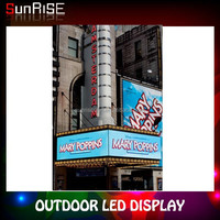 640mm*640mm Extra Thin New Design Shenzhen Sunrise full color Alibaba express P6 Smd Outdoor Led Display
