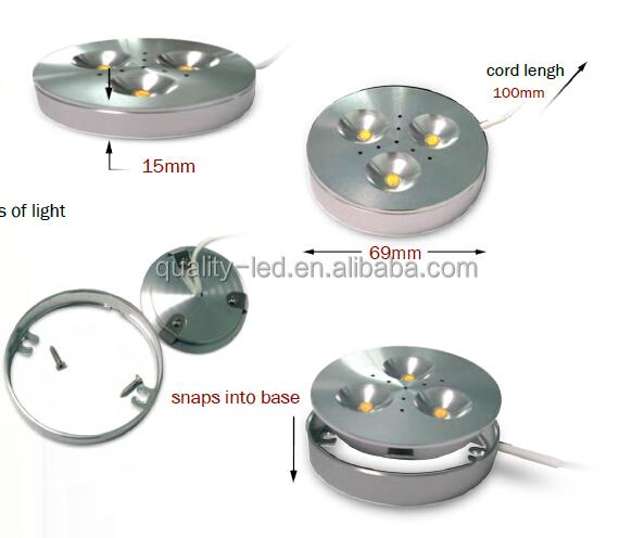 중국 공급 업체 12 볼트 색상 변화 RGB LED 퍽 라이트 카운터 LED ...