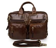 JMD Multi-Purpose Design Vintage Leather Style Men Backpack Bag Briefcases Messenger Bags # 7026C