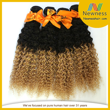 Ombre hair weave 100% indian human hair weave wholesales indain real indian hair for sale