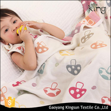 wholesale Japan style Super-Soft cotton jacquard mushuroom baby blanket