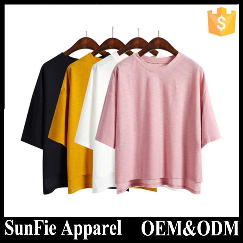 Summer plain organic cotton tag custom t shirt buy for Organic custom t shirts