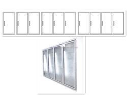 High Quality Aluminum Glass Door Frame for Refrigerator Freezer