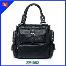 2014 Top grain leather handbag leather bag popular men handbag men business handbag high quality leather satchel tote bags