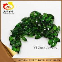 Bottom price charming marquise shape diamond cut natural diopside quartz