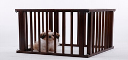 4ft outdoor large cheap wooden dog kennel