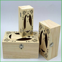 Laser Cutting Wooden Wedding Invitation Box