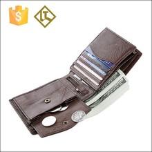 High technology casual cash leather purse wallet men