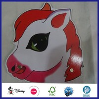 Masquerade Horror Horse Glossy Art Paper Party Mask