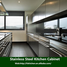 foshan factory popular home furniture free standing stainless steel kitchen cabinet