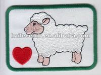 Embroidery Patches with a Red Heart and a Sheep,Perfect for Garments,Toys,Handbags and Footwears.Various Designs are Available.