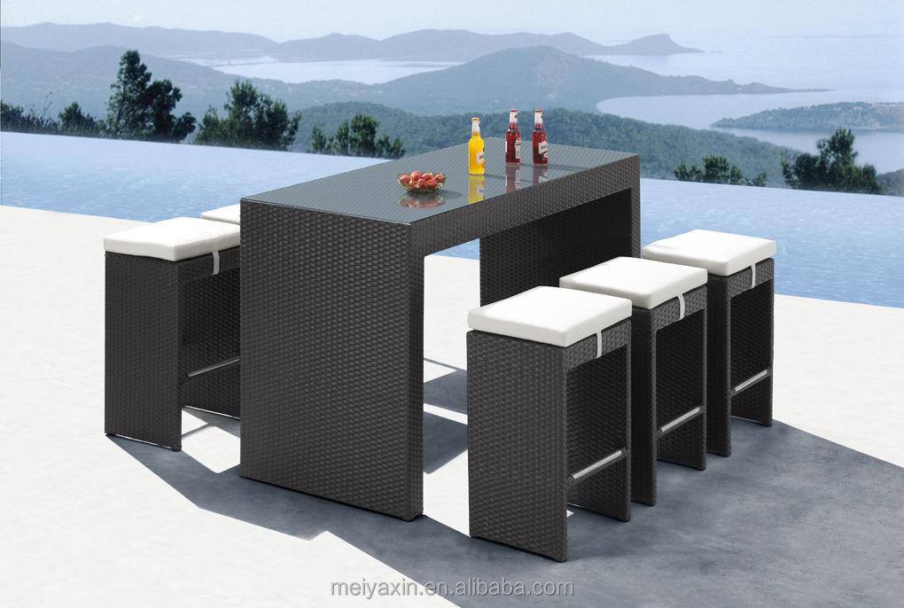 Hd design outdoor furniture for sale rattan bar set pub for Sofas mimbre exterior