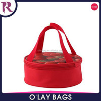 Red popular large capacity insulated cylinder strawberry cooler bag