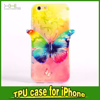 2015 New Products Butterfly TPU Case For iPhone6