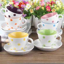 special handmade ceramic mug with dots