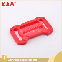Kam red four side affordable price custom plastic siderelease strap buckle