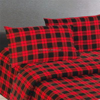 100% cotton flannel fabric for bed sheets