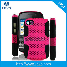 for BB Q10 mesh pc and silicon combo case & for blackberry phone case