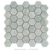 century light green ming green hexagon wall tile bathroom mosaic tile