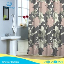 Garden Collection gray pink new products polyester shower curtain hook less