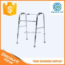 Folding Adjustable Aluminum disabled walker without wheels