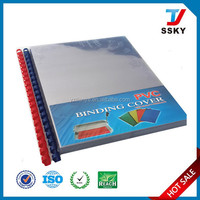 Rigid hard plastic cover for book binding cover