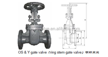 DIN F4/F5 Metal Seal Gate Valve Non-ring / Ring Stem Gate Valve