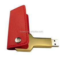 swivel leather and metal usb flash drive key usb flash memory alibaba china