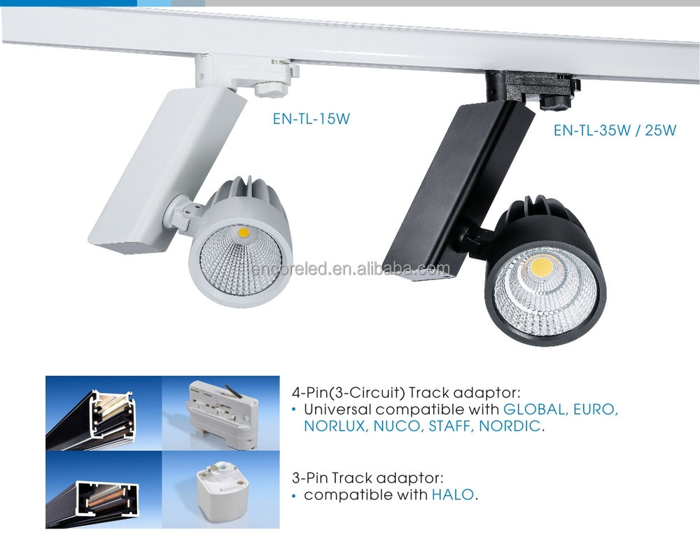 phase dali 1 10v 0 10v dimmable led track lighting for shopping mall