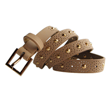 designer bridal hollow beaded belts with rivets
