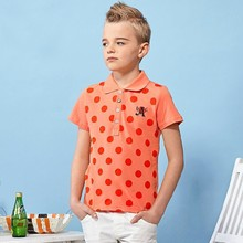 FACTORY PRICES 2015 latest summer short sleeve pure cotton polka dots casual kids clothes korean style fashion boys polo shirts