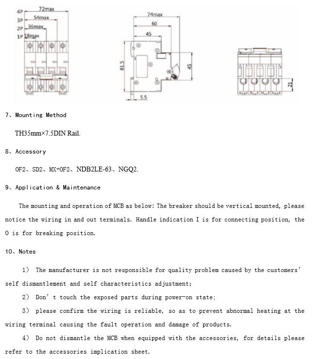 Хорошее качество 100% дешевые Надер NDB2-63 Серии MCB mccb AC 230 В/400 В short delivery elcb выключателя с Защитой От Перегрузки