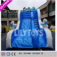 Blue inflatable slide, high slide, cheap slide inflatables