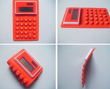 2012 100% non-toxic silicone flexible calculator with 8 digits