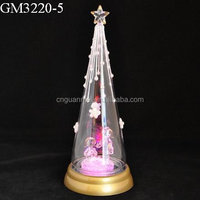 Factory supplier hotsell clear led christmas tree glass