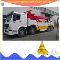 ZZ1317N4667D1B After-sale service provided China sinotruk howo 8*4 50 ton 360 rotation heavy duty tow truck for sale in dubai