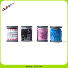 Best durability silicone rubber folding computer keyboard for iOS, android and windows