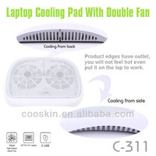 Best selling high quality double fans USB laptop cooling pad