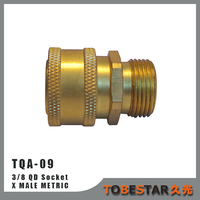 "Brass 3/8"" Female x Male M22 Quick Release Connectors"