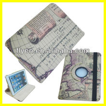 Europe Land Style 360 Rotating Stand PU Leather Case For iPad Mini Magnetic Smart Cover Tablet Accessories Wholesale Good Price