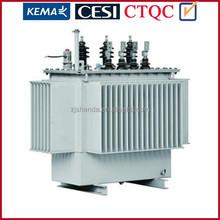 1000kva 33kv 3 phase oil immersed no load changer distribution transformer