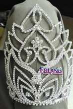 20cm Above Beautiful Rhinestone Pageant Large Crown Semicircle Crown