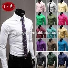 2015 alibaba fábrica massa preço moda sexy vestido slim fit plain algodão homem vestido de camisa para homens