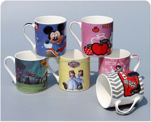 hot sale ! 200cc small ceramic coffee mug with lovely printing