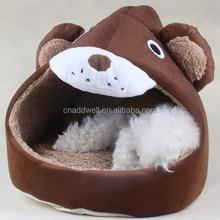 Plush bear shape animal shaped dog bed pet bed