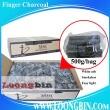 500g/box Bamboo coconut finger stick charcoal for shisha hookah