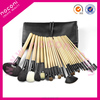 2014 hot sale 28pcs professional high quality goat hair wooden colour handle cosmetic set