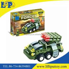 Intelligence plastic missile vehicle building blocks toy for kids