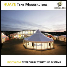 Luxury beautiful multi-side party wedding tent for outdoor canopy with hexagonal shape
